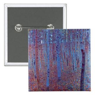 Beech Forest by Gustav Klimt 2 Inch Square Button