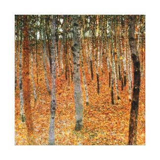Beech Forest by Gustav Klimt Fine Art Canvas Print