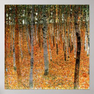 Beech Forest by Gustav Klimt Fine Art Poster Print