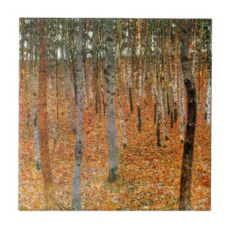 Beech Forest by Gustav Klimt Tile
