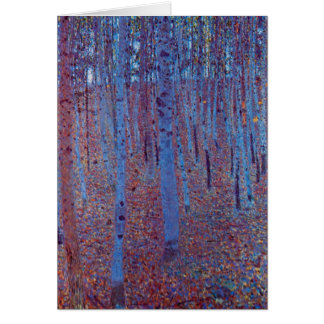 Beech Forest by Gustav Klimt, Vintage Art Nouveau Greeting Card