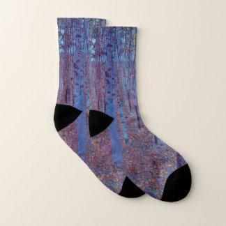 Beech Forest by Gustav Klimt, Vintage Art Nouveau Socks