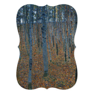 "Beech Grove I by Gustav Klimt 5"" X 7"" Invitation Card"