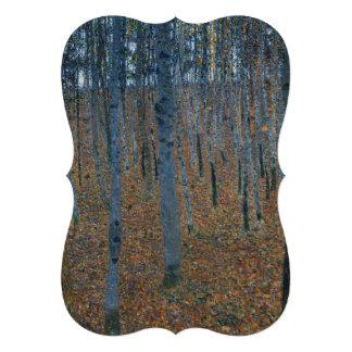 Beech Grove I by Gustav Klimt Custom Invitations