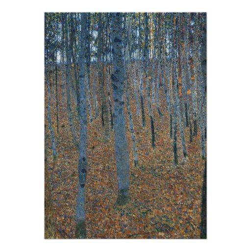 Beech Grove I by Gustav Klimt Announcement