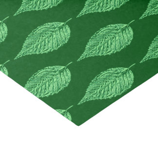 Beech Leaf Chalk Print, Deep Emerald Green Tissue Paper
