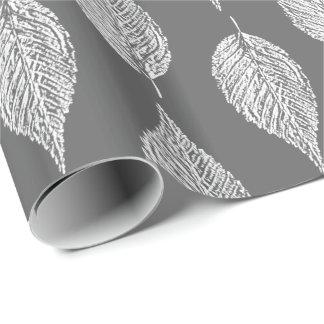 Beech Leaf Chalk Print, Gray / Grey and White