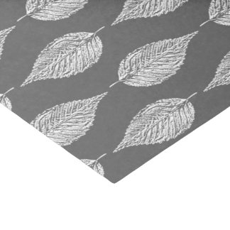 Beech Leaf Chalk Print, Gray / Grey and White Tissue Paper