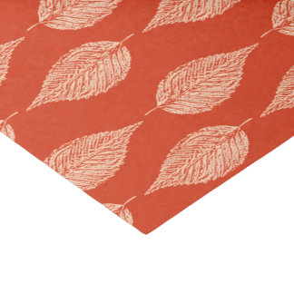 Beech Leaf Chalk Print, Mandarin Orange Tissue Paper