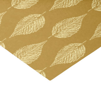 Beech Leaf Chalk Print, Mustard Yellow / Gold Tissue Paper