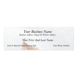 Beech Leaf In A Snow Drift Business Card Templates