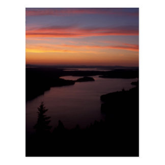 Beech Mountain Twilight Acadia National Park Postcard