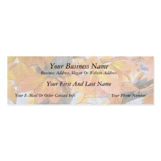Beech Tree In The Winter Woods Mini Business Card