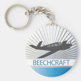 Beechcraft Aircraft Basic Round Button Keychain