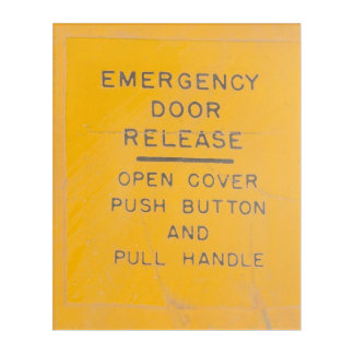 Beechcraft Model 18 Emergency Door Release Design Acrylic Print