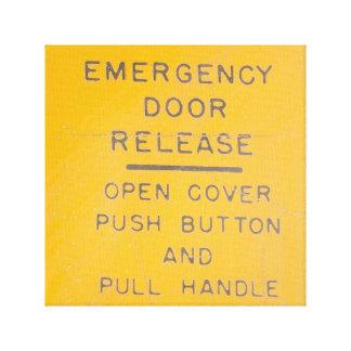 Beechcraft Model 18 Emergency Door Release Design Canvas Print