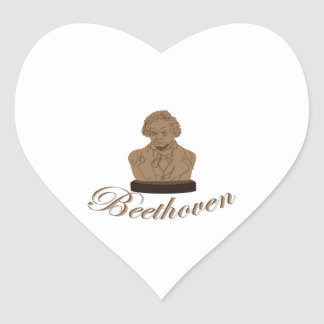 Beeethoven Heart Sticker