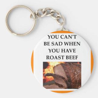 BEEF BASIC ROUND BUTTON KEYCHAIN