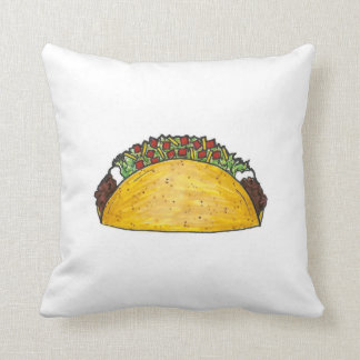 Beef Cheese Corn Taco Mexican Tex Mex Food Foodie Throw Pillow