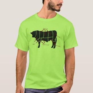 Beef Eater! Tasty Cuts Butchering Diagram T-Shirt