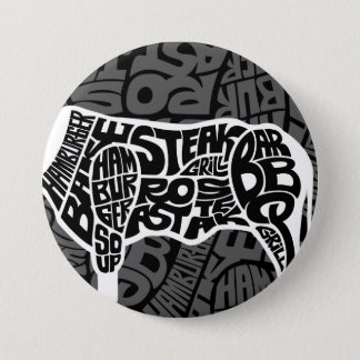 Beef Eater's Chart 3 Inch Round Button