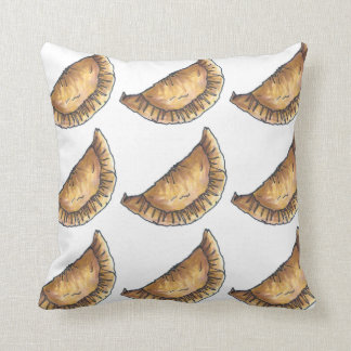 Beef Empanadas Spanish Latin American Food Pastry Throw Pillow