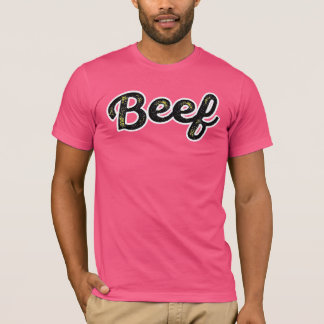 Beef in yellow T-Shirt