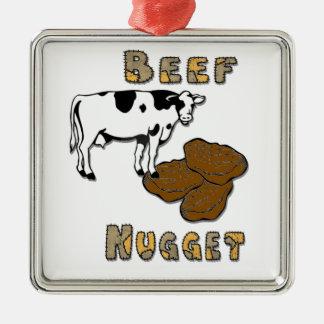 Beef Nugget Metal Ornament