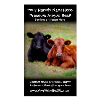 Beef Ranch or Cattle Farming  Business Business Card