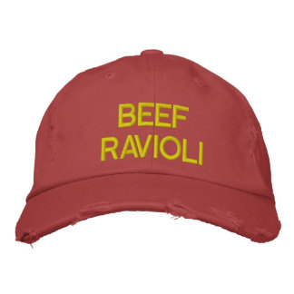 Beef Ravioli Embroidered Hat