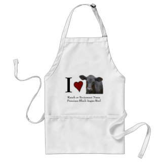 Beef Steak I Love Black Angus Standard Apron