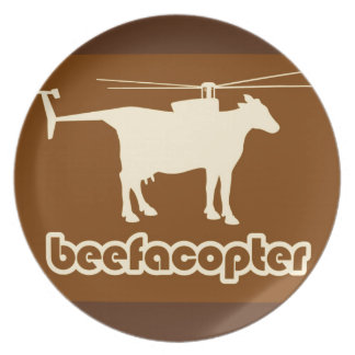 Beefacopter Party Plate