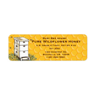 Beehive and Honeycomb Personalized Apiary Style 3