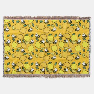 Beehive Lemonade pattern Throw