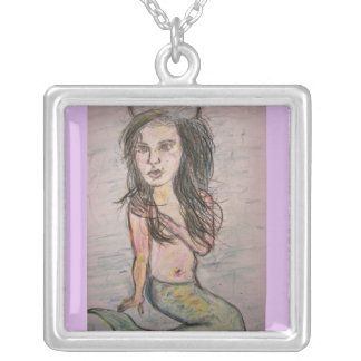 Beehive Mermaid Silver Plated Necklace