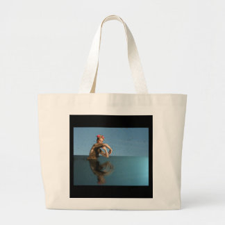 beeing in the water large tote bag
