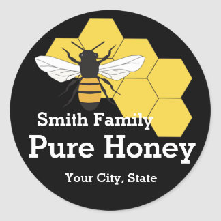 Beekeeper Honey Bee Farm Stand Round Label