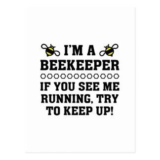 Beekeeper Running Postcard