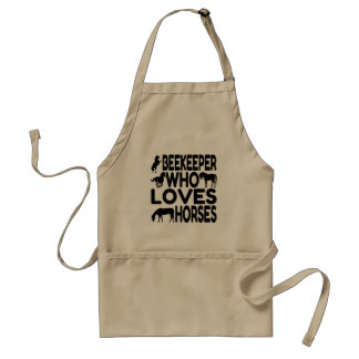 Beekeeper Who Loves Horses Standard Apron
