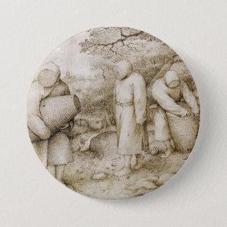 Beekeepers by Pieter Bruegel the Elder 3 Inch Round Button