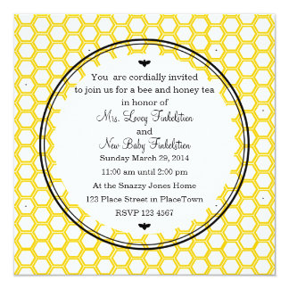 "Beekeeper's Card 5.25"" Square Invitation Card"