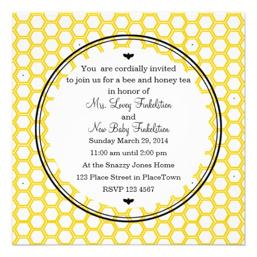 Beekeeper's Card Personalized Announcements
