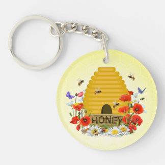 Beekeepers Key Ring Double-Sided Round Acrylic Keychain