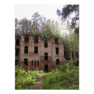 Beelitz hospital ruin, Alpenhaus Photo Print