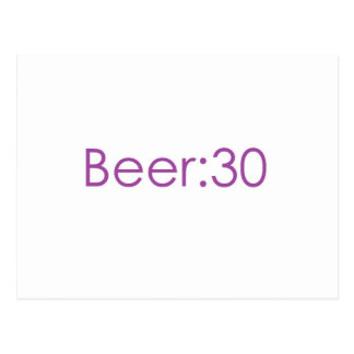 Beer:30 Purple Postcard