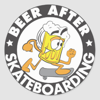 Beer After Skateboarding Sticker