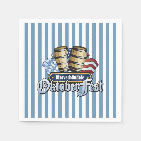 Beer Allies Oktoberfest Party Paper Napkins