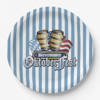 Beer Allies Oktoberfest Party Paper Plates