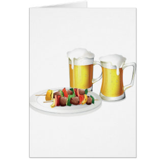 Beer And Barbecue Greeting Cards