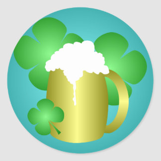 Beer and Clover St Patrick's Day Sticker